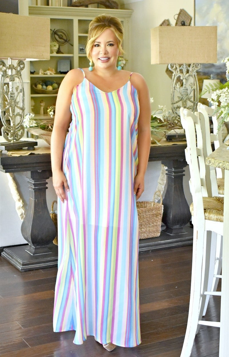 Load image into Gallery viewer, Sweet Endeavors Striped Maxi Dress - Multi