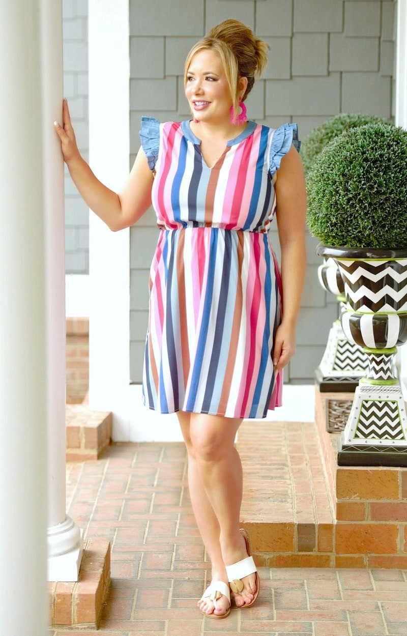 Most Of All Striped Dress - Multi