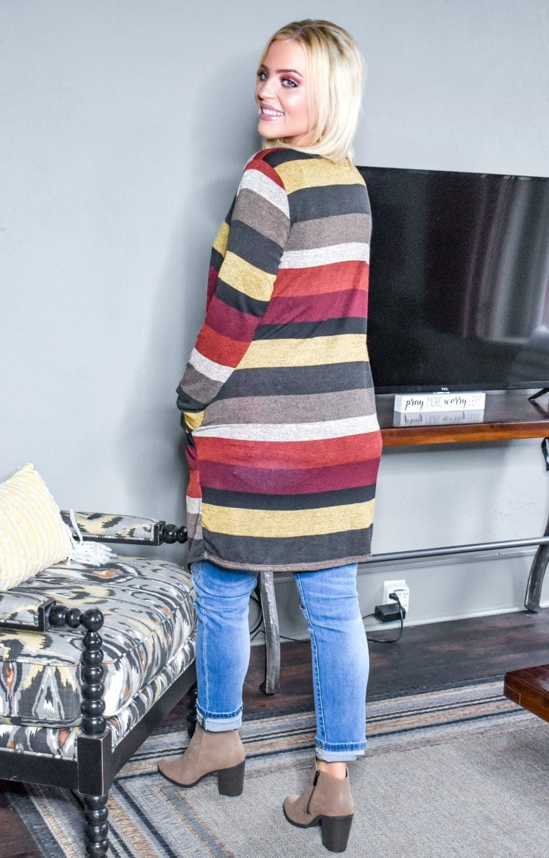 Feel The Heat Striped Cardigan - Multi