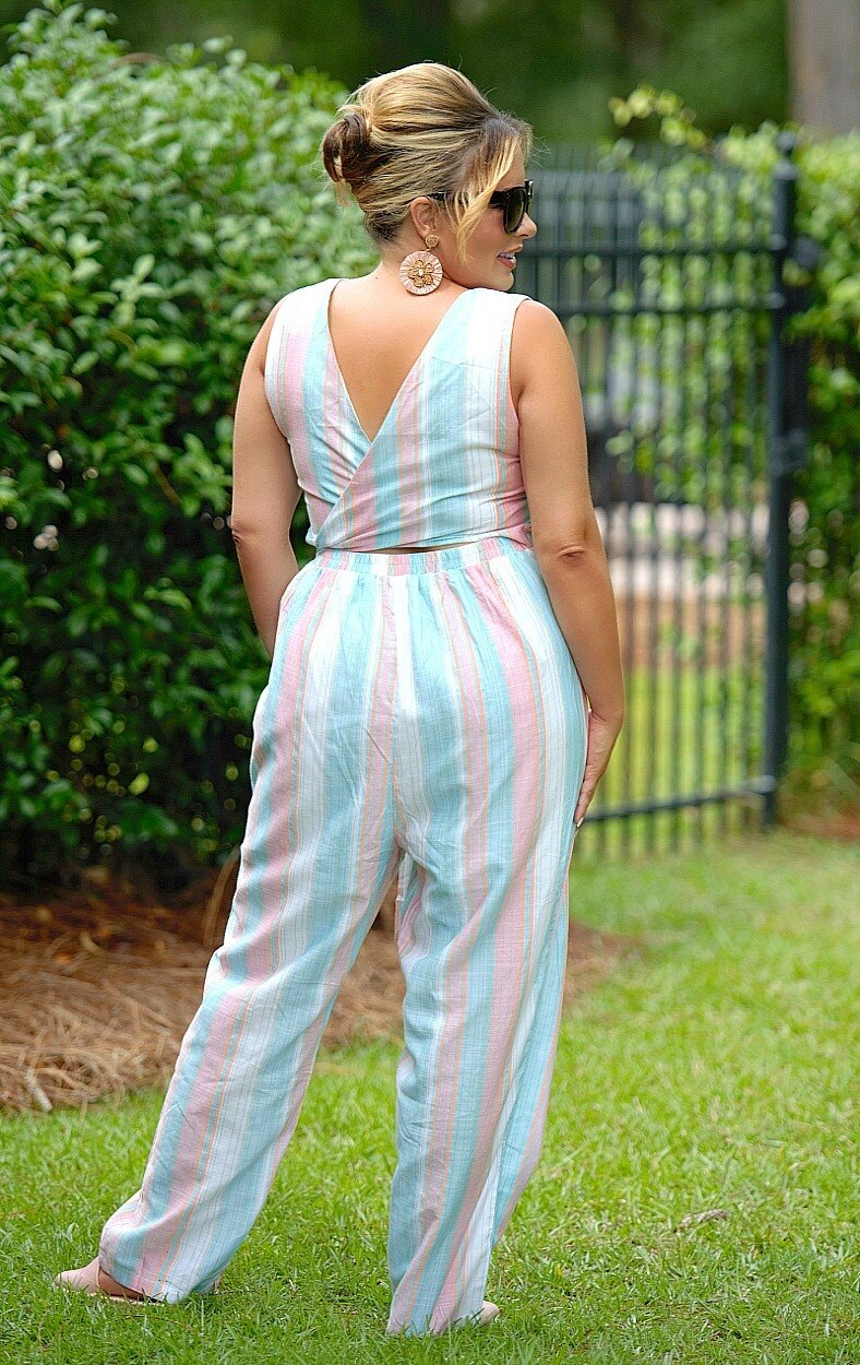 Load image into Gallery viewer, Go To Great Lengths Striped Jumpsuit - Multi