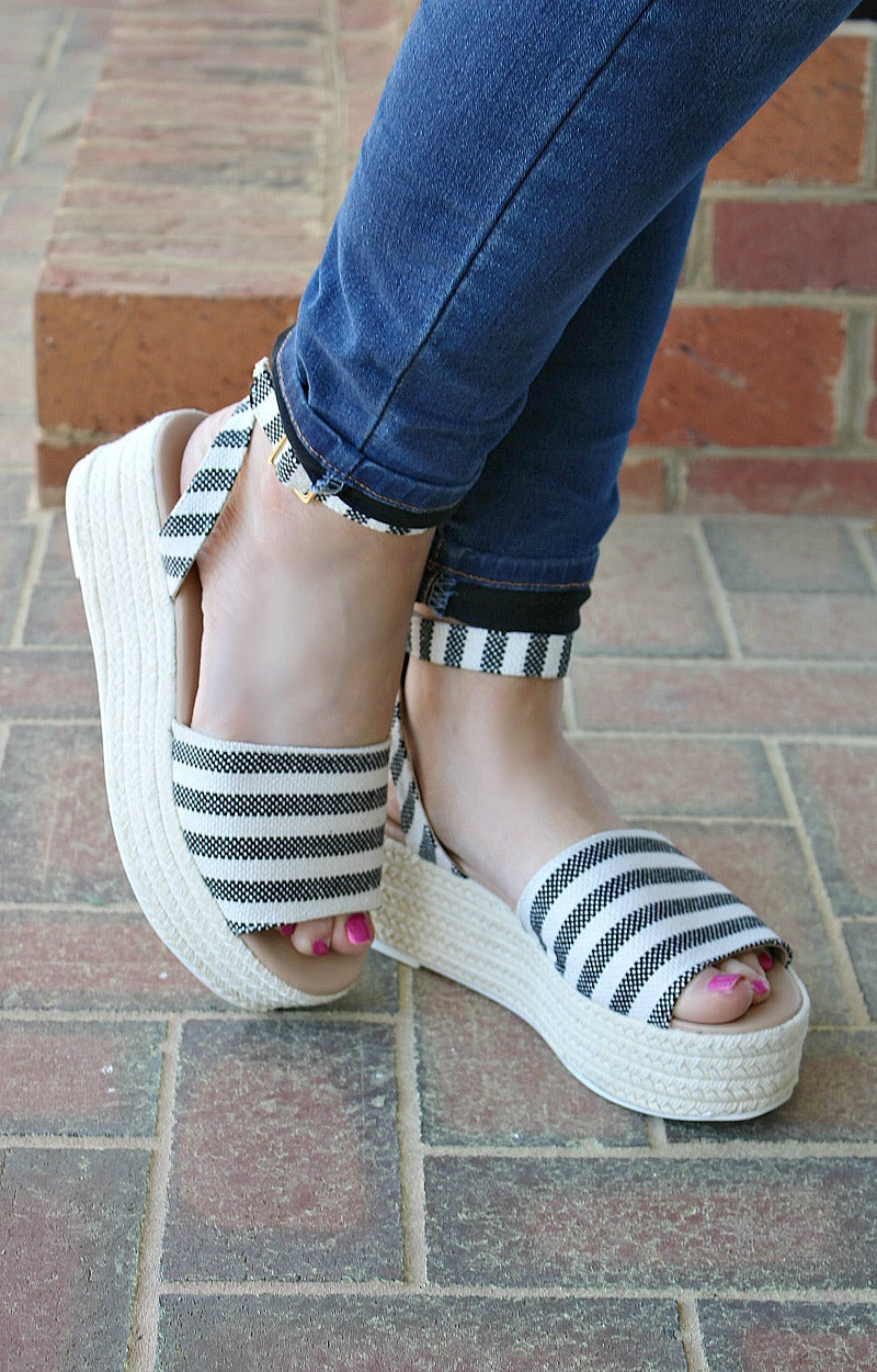Load image into Gallery viewer, It's All Good Wedges - Black/Beige