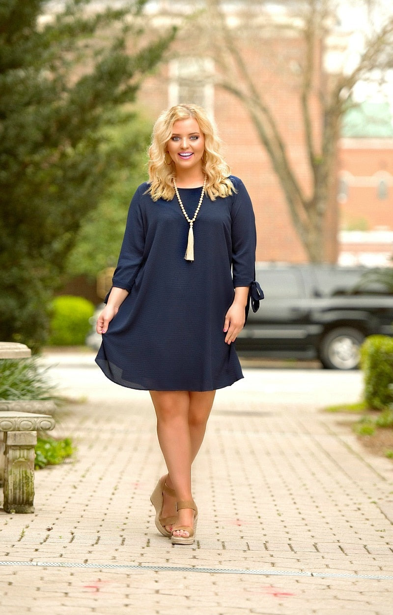 Load image into Gallery viewer, Run The World Dress - Navy
