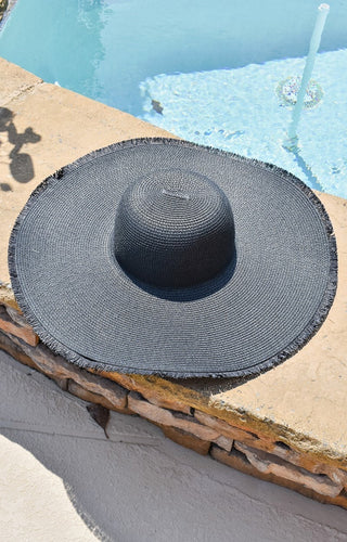 The Sunnier Side Floppy Hat - Black