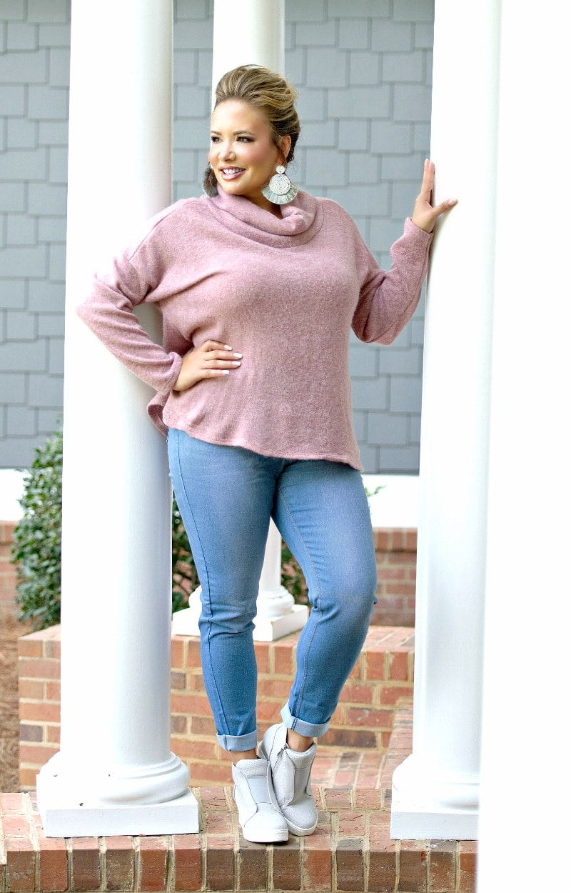 On Call Sweater - Mauve
