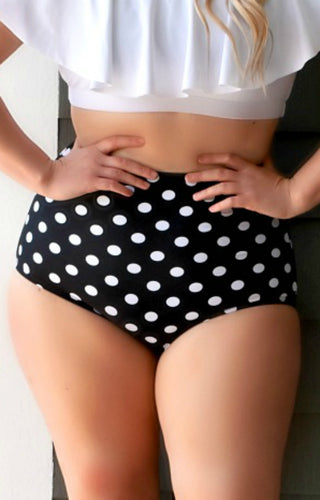Vacation Vibes Bikini Bottoms - Black/White