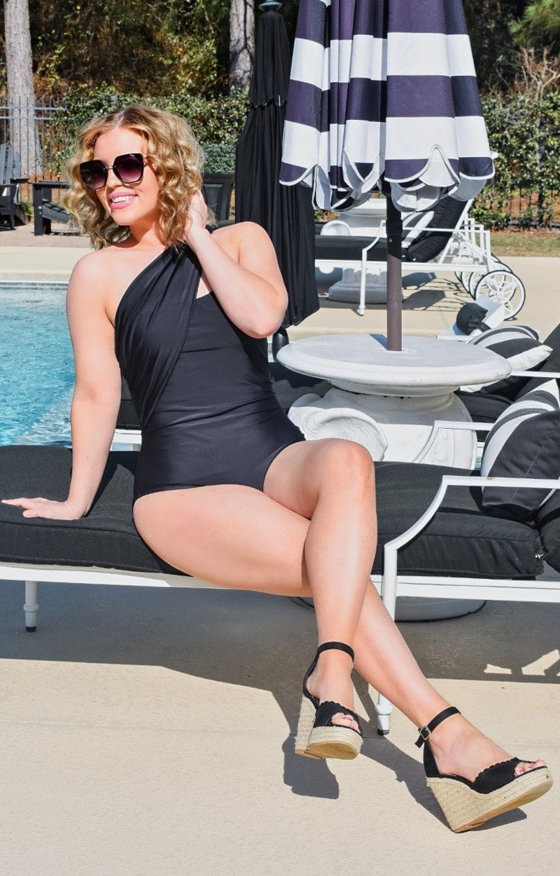 Load image into Gallery viewer, Carefree in Cabo One Piece Swimsuit - Black