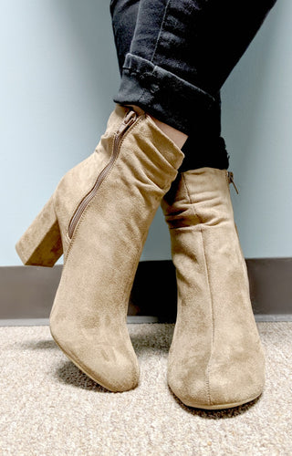 Dreaming Of Forever Booties - Taupe
