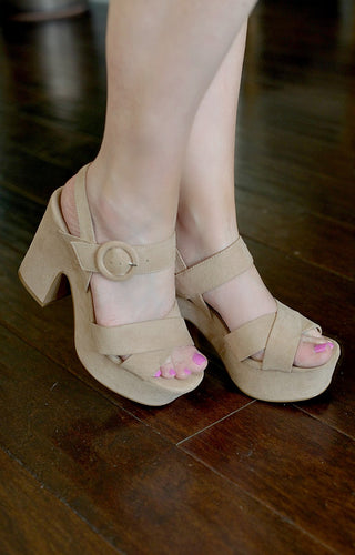 Gets Better With Time Heels - Taupe