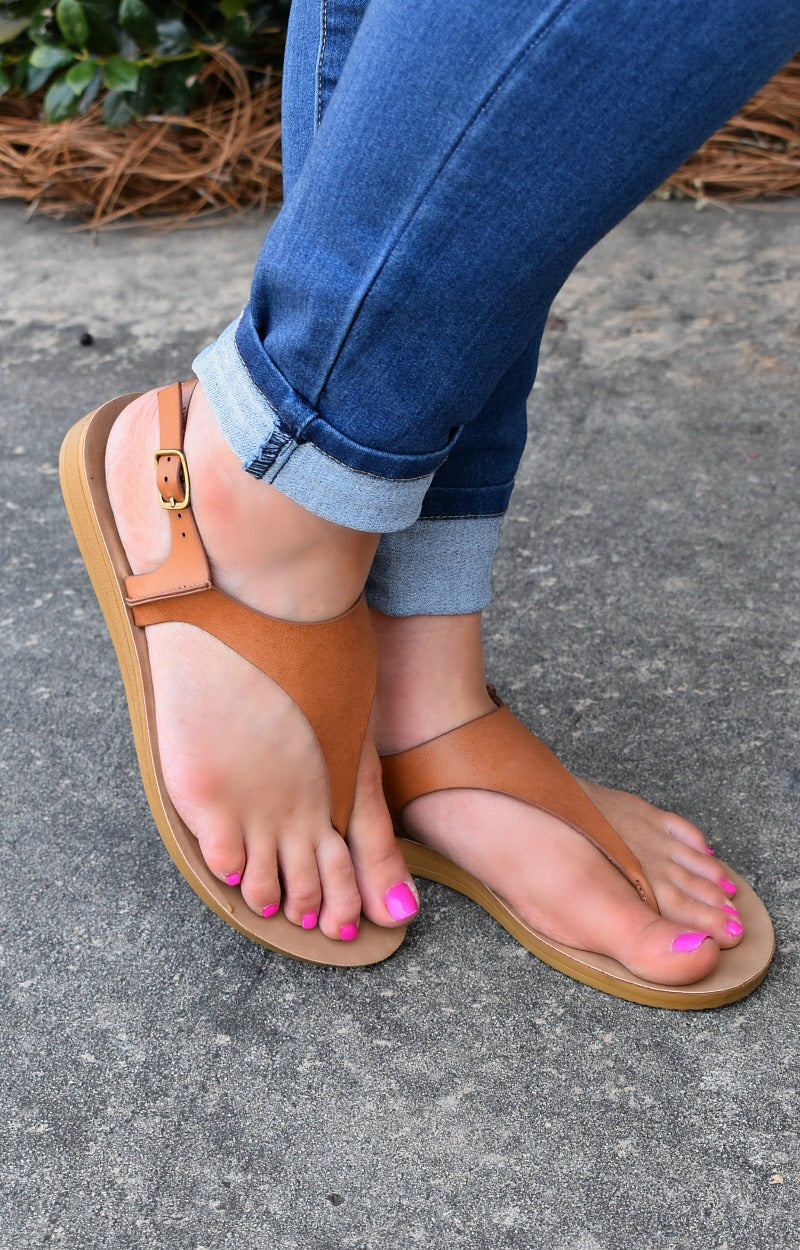 Walking Away Sandals - Camel