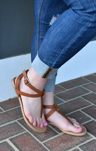 Pure Innocence Sandals - Tan