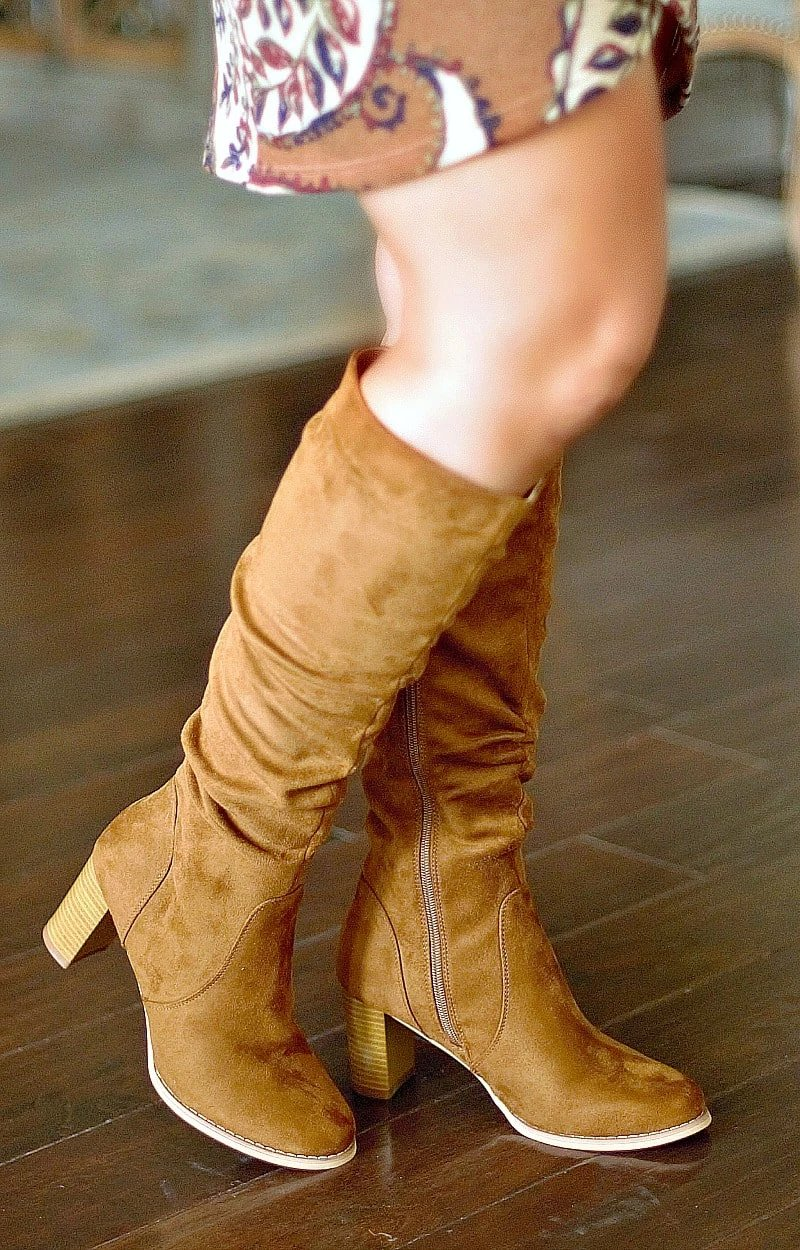 Back At It Knee Boots - Tan