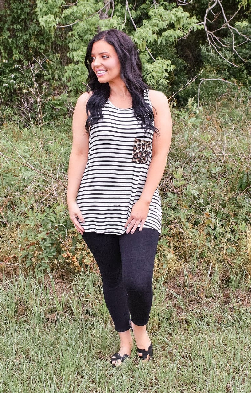 Load image into Gallery viewer, Burst Your Bubble Striped Top - Ivory/Black