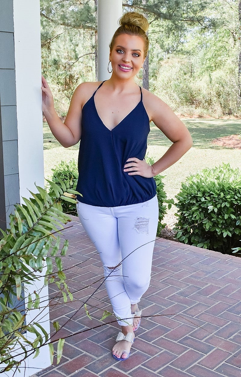 Constant Reminder Top - Navy