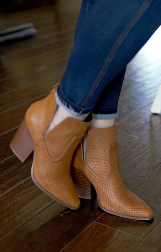 Make A Move Booties - Caramel Brown