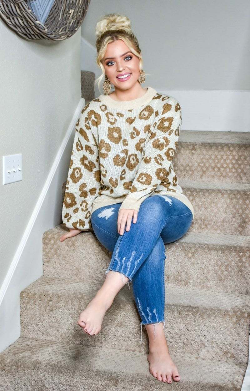 Whole New World Leopard Print Sweater