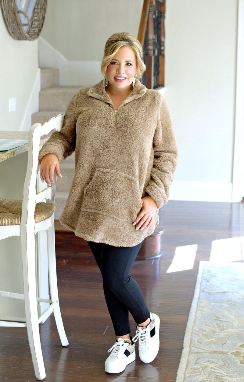 Warm Up To Me Pullover - Taupe