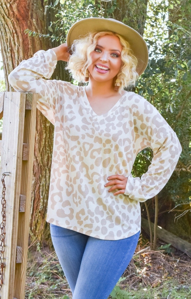 The Time Is Right Leopard Print Pullover