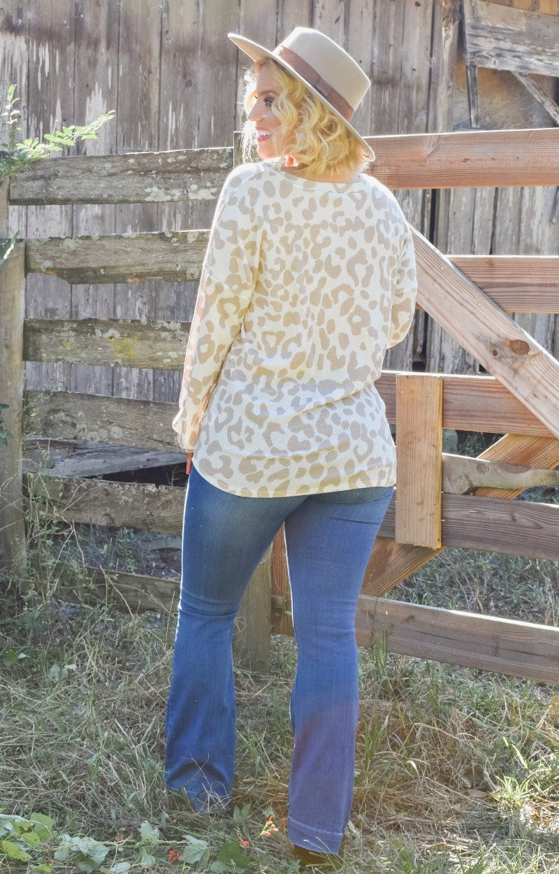 Load image into Gallery viewer, The Time Is Right Leopard Print Pullover