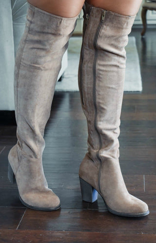 This Is Why Knee Boots - Taupe
