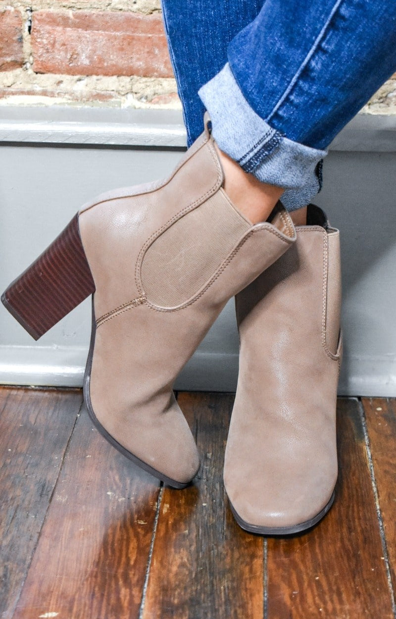 You Wonder Why Booties - Taupe
