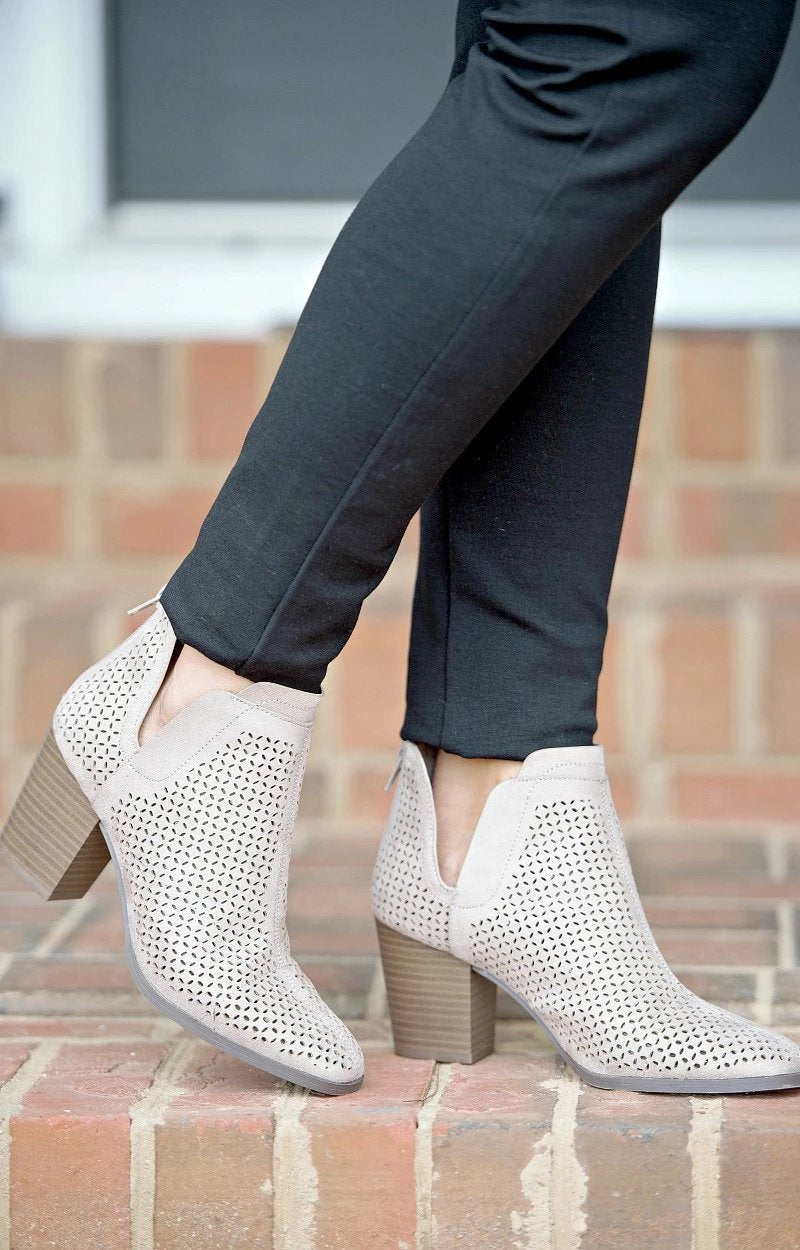 Ask Around Booties - Taupe