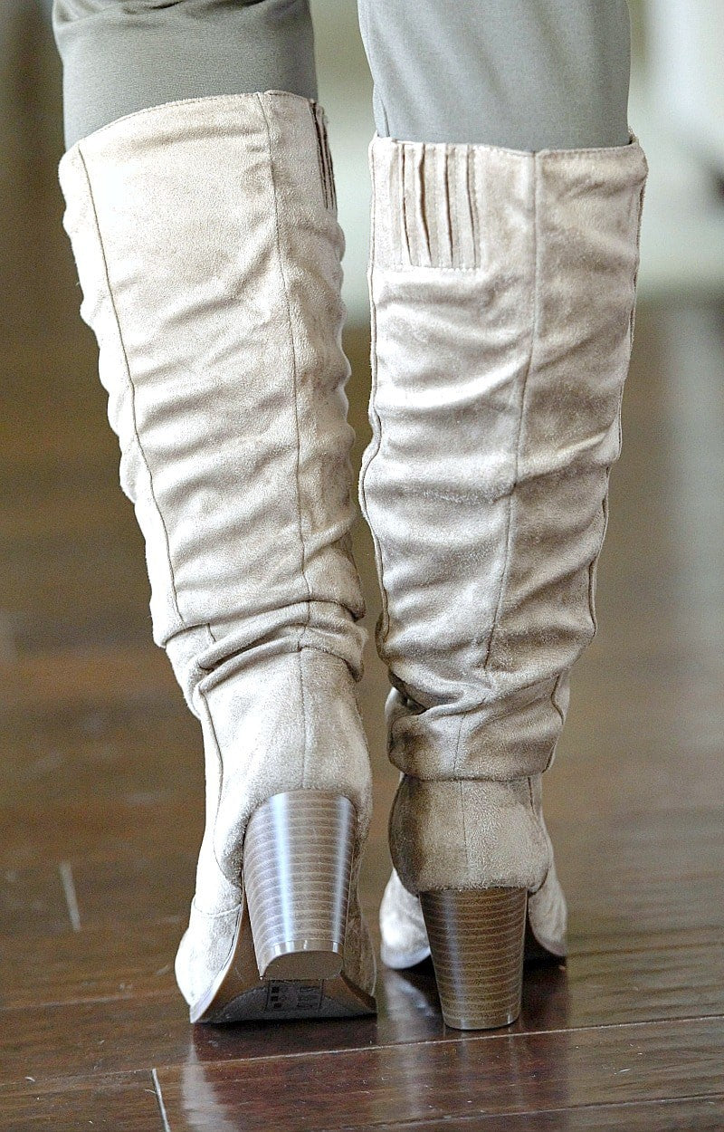 Set It Aside Boots - Taupe