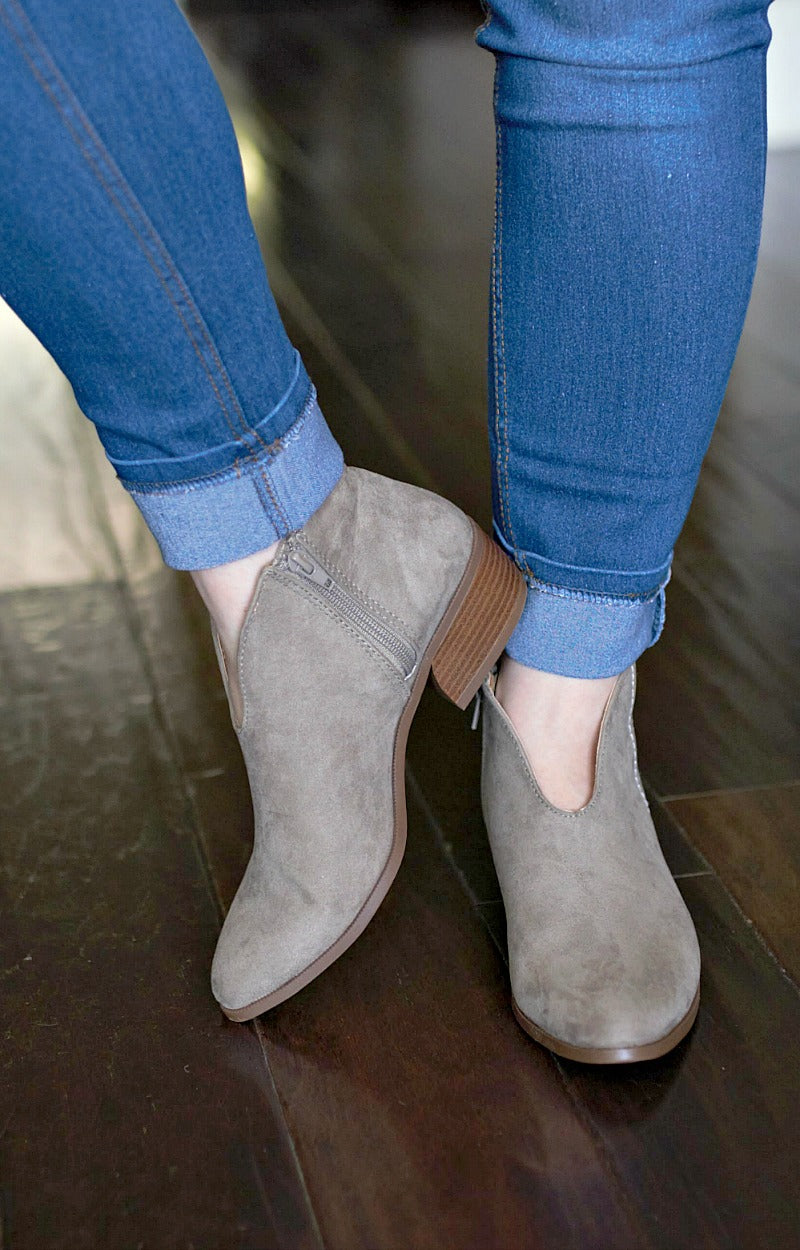 Don't Sweat It Booties - Taupe