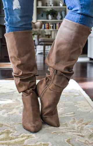Tell Me Again Boots - Taupe