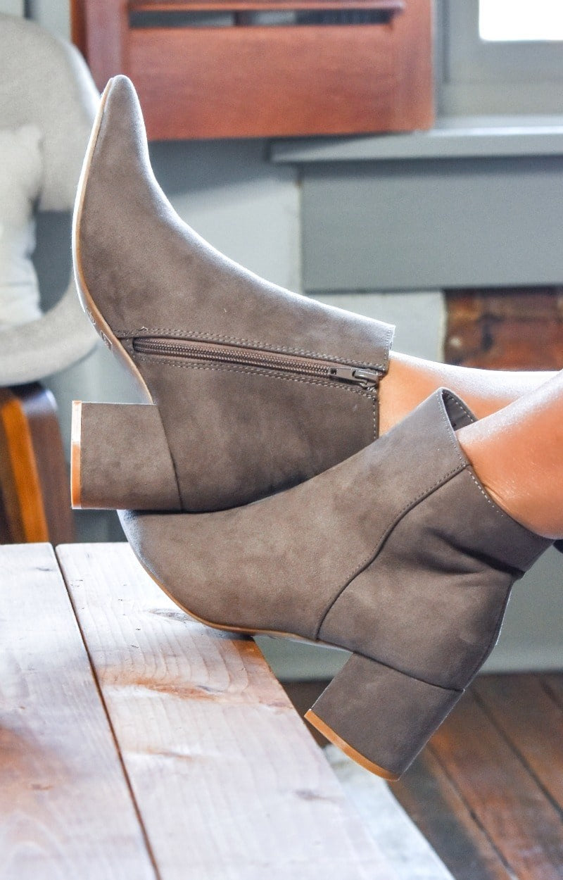 Load image into Gallery viewer, My Sidekick Ankle Booties - Taupe