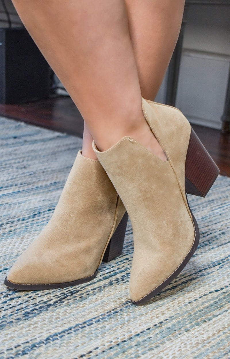 Bring The Heat Booties - Taupe