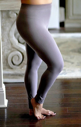 So Very Luxe Ankle Length Leggings - Pewter