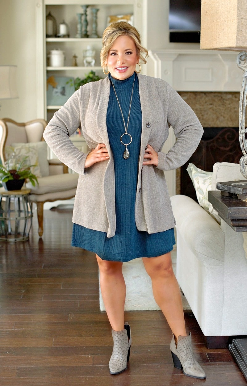 Fresh New Take Cardigan - Pewter