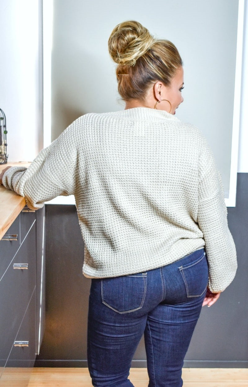 Load image into Gallery viewer, Sweetheart Wishes Oversized Sweater - Taupe