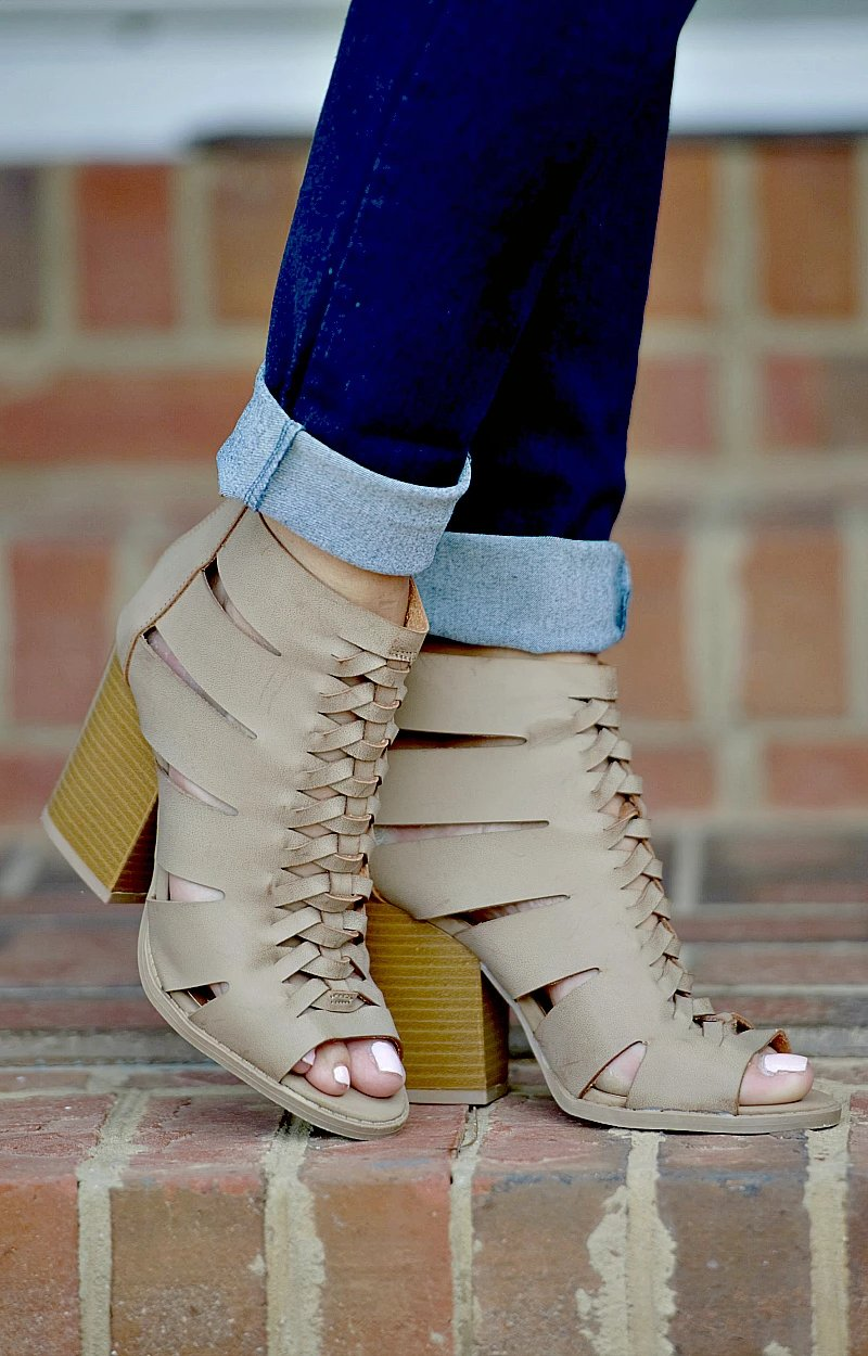 My Soft Side Peep Toe Booties - Taupe