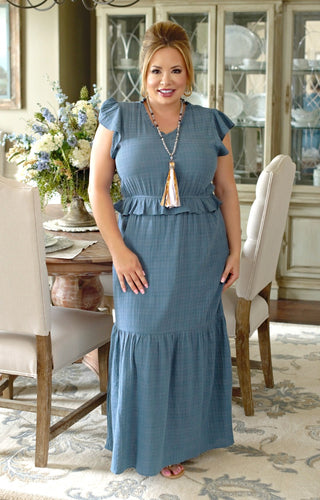 My Sweet Lady Maxi Dress - Denim Blue