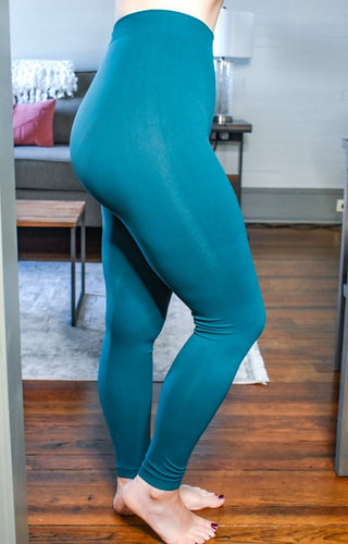 So Very Luxe Ankle Length Leggings - Dark Teal