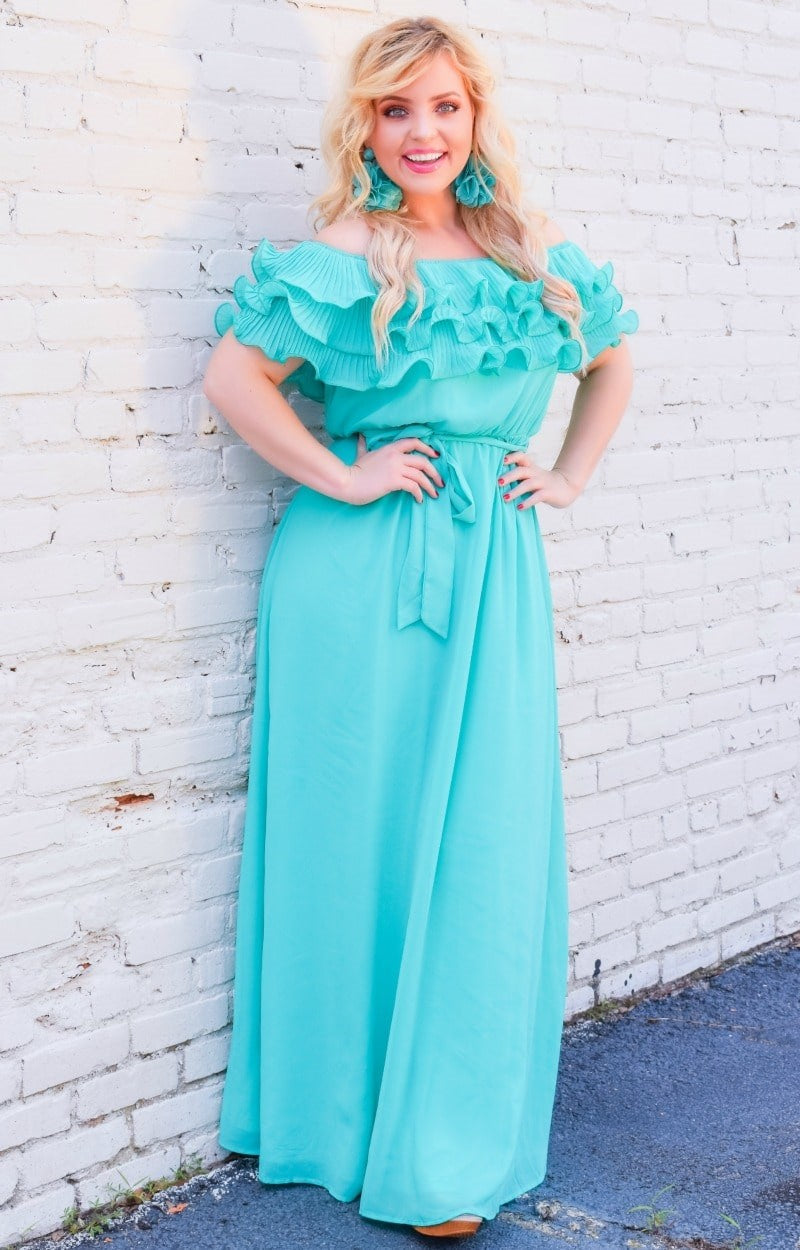 Load image into Gallery viewer, It's A Date Maxi Dress - Mint