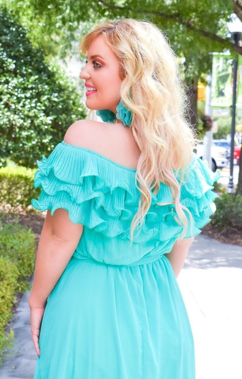 It's A Date Maxi Dress - Mint