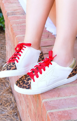 Bring The Fun Leopard Print Star Sneakers