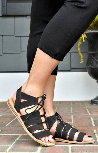 So Bold Gladiator Sandals - Black