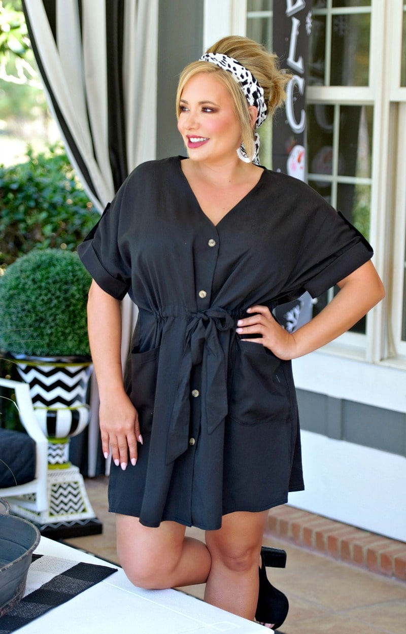 Load image into Gallery viewer, Hold It Together Dress - Black