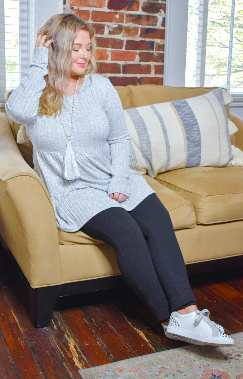 Autumn Dreams Sweater - Heather Gray