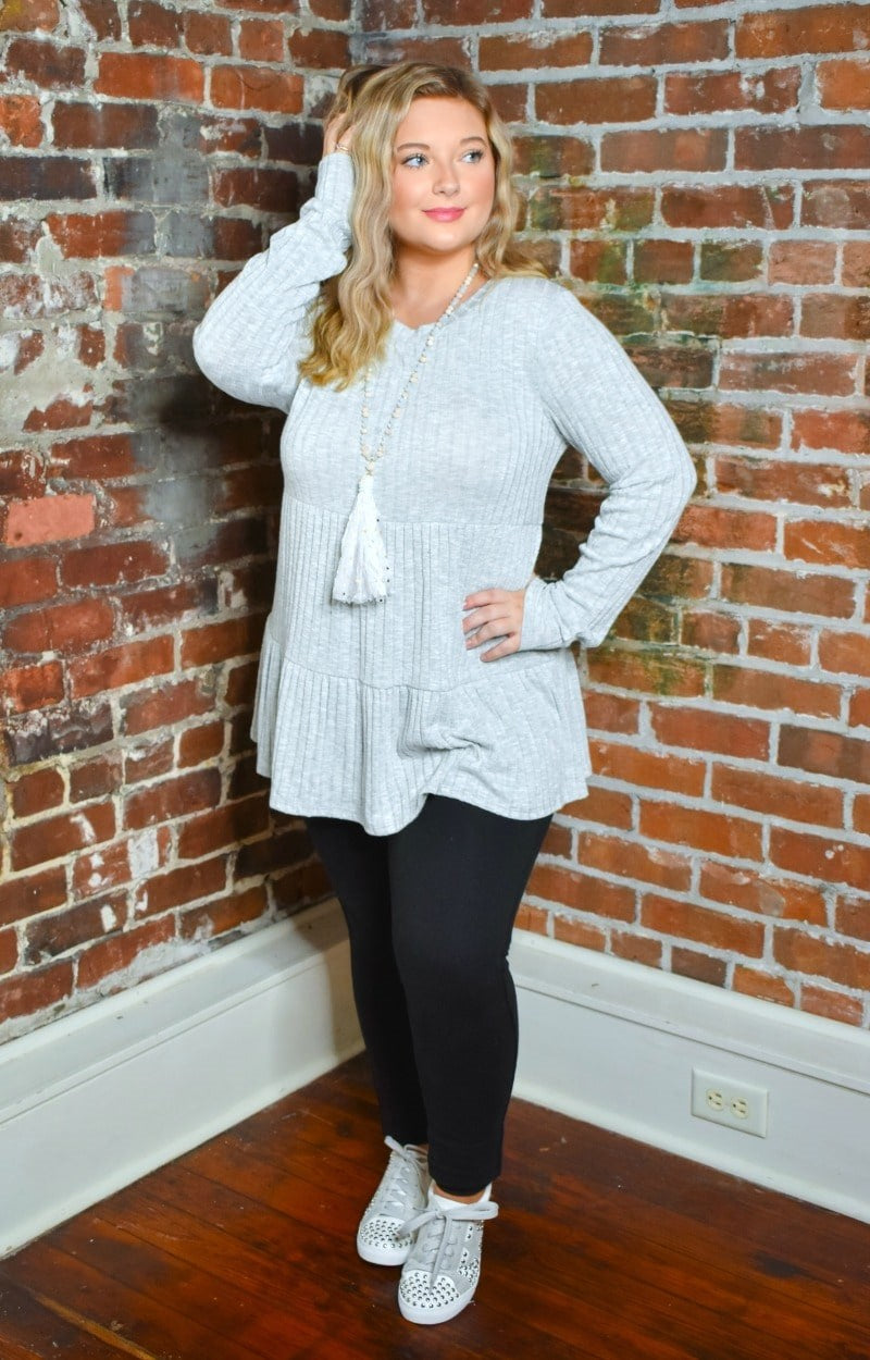 Load image into Gallery viewer, Autumn Dreams Sweater - Heather Gray