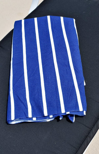 Blue Lagoon striped Towel - Blue/White