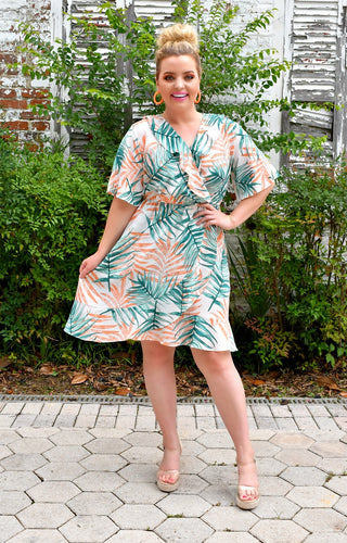 Coast Is Clear Tropical Print Dress
