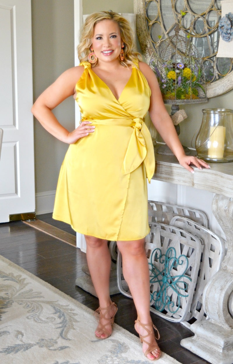 Trophy Gal Wrap Dress - Gold
