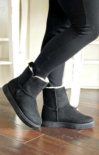 One More Day Booties - Black