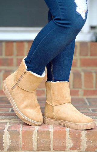 One More Day Booties - Tan