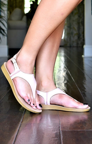 Walking Away Sandals - Blush