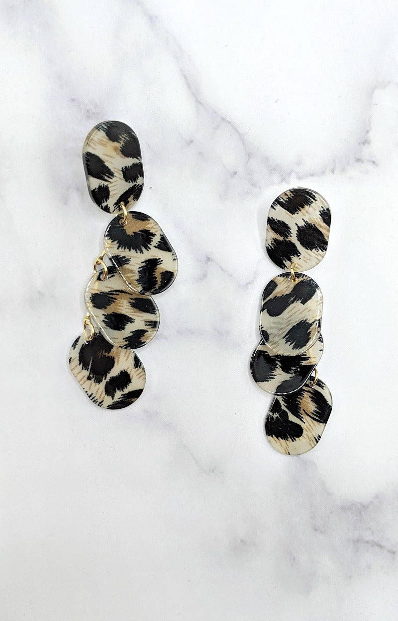 Load image into Gallery viewer, Got The Drop Leopard Earrings